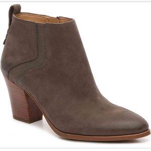 Franco Sarto Atlas suede booties grey 8.5 leather